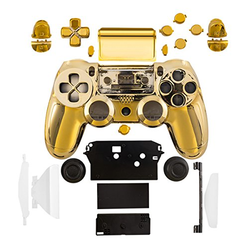 kwmobile Controller Gehäuse kompatibel mit Playstation 4 Controller (1. Gen) Konsole in Gold