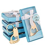 24PCS Footprint keychain Shaped Bottle Opener Baby Shower Return Gifts Souvenirs Party Favors for Guests Baby Birthday Keepsake Wedding Party Decorations (24, Blue Footprint)
