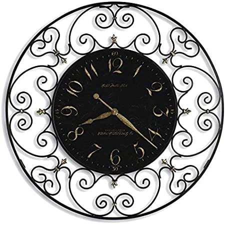 Amazon Com Howard Miller Joline Oversized Gallery Wall Clock 625 367 Black Iron With Quartz Movement Home Kitchen