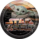 Unique Industries Star Wars Mandalorian - The Child -9 Inch Luncheon Plates (8 per Pack)