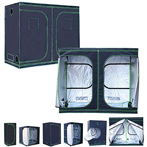 Rapid Teck® Grow Zelt (240 x 120 x 200 cm) Home Grow Tent | Indoor Growzelt | schwarz grün | Growroom Growschrank Darkroom Pflanzenzelt Gewächshaus Zuchtzelt Growzelt