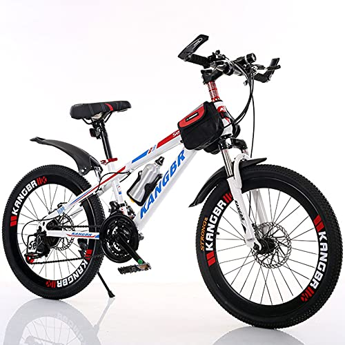 WXXMZY Bicycle, Adult Mountain Bike 21-speed Shock-absorbing Mountain Bike, Very Suitable For Adventure, Fitness, Commuting, Leisure, Etc. (Color : Red, Size : 26 inches)