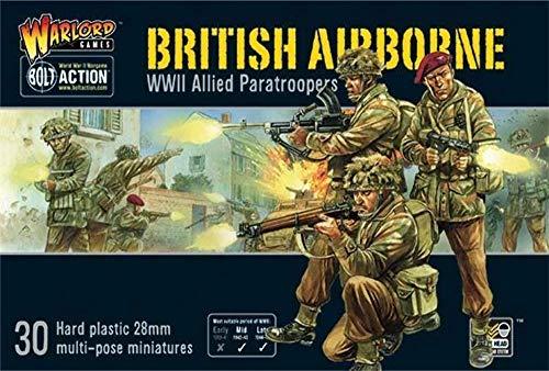 WAR-402011009A - Juegos De Warlord - Aerotransportado Británico WWII Paracaidistas Aliados - Bolt Action