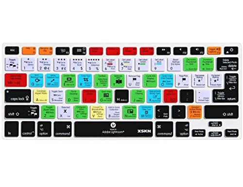 XSKN Adobe Lightroom Shortcuts Keyboard Skin Hot Keys LR Keyboard Cover for MacBook Air 13 & MacBook Pro 13 15 17, Retina (US/European ISO Keyboard)