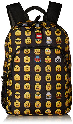 LEGO Kids Minifigure Heritage Classic Backpack, Black, One Size