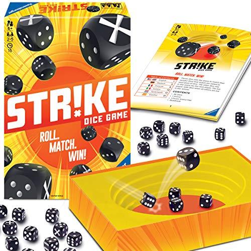 Ravensburger 26840 - Strike, Brettspiel, Mehrfarbiges Würfelspiel für 2-5 Spieler, Mitbringspiel ab 8 Jahren, Familienspiel