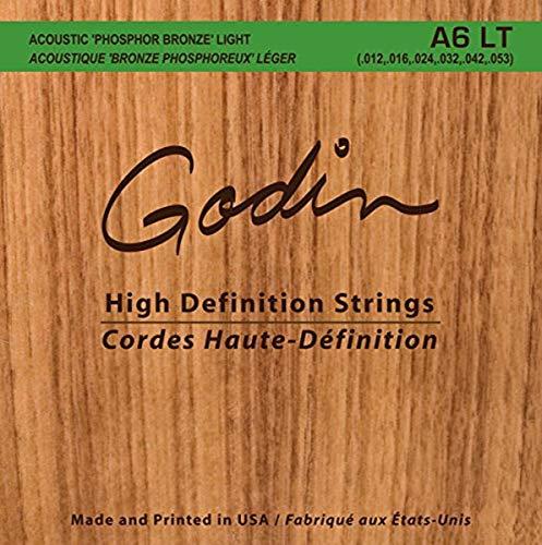 GODIN Gitarren 008995Möve A6LT Phosphor Bronze Acoustic Gitarre Saiten, Light