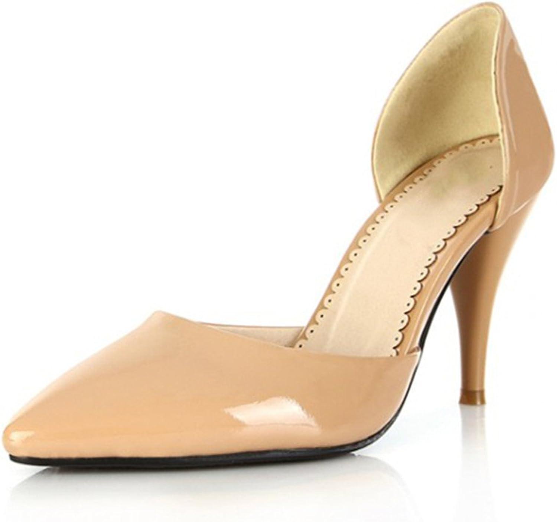 Nine Seven Patent Leather Women's Pointed Toe Stiletto Heel D'Orsay Handmade Dress Pump
