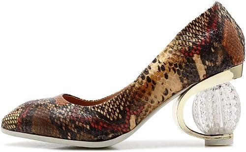 WJFGGXHK Femmes Peu Profondes Pompes à Bout Carré Chaussures Chaussures Officce Chaussures Femmes Cristal Insolite Talons Hauts Chaussures Femme  vente discount