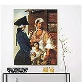 IUYBHRYI 《Castas de la Nueva españa》 Lienzo Pintura al óleo mundialmente Famosa Obra de Arte póster Imagen decoración de la Pared decoración Moderna del hogar-60x80cm sin Marco