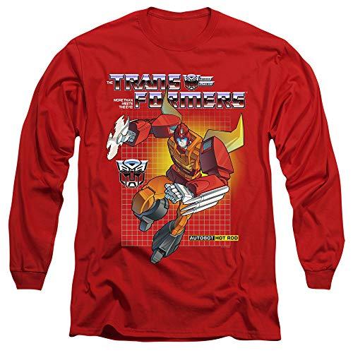 Transformers Long Sleeve T-Shirt Hot Rod Red Tee, Medium