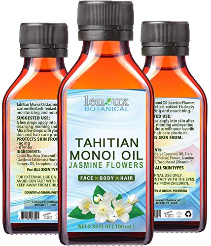 TAHITIAN MONOI OIL JASMINE. ACEITE DE COCO/ACEITE DE JAZMÍN. Humectante 100% puro...