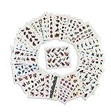 AIUIN 50 Piezas Pegatina de Uñas Francesas Guías de Clavar Tip Pegatinas Conjunto con Diferentes Formas para Uñas de Manicura,49.5 * 64MM
