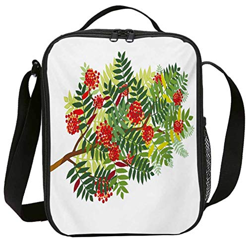 Fashion Lunch Bags with Zipper Insulated Lunchbox for School Girls Rowan Graphic Tree Branch