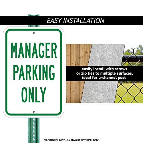 "SignMission Public Safety Sign - Body Temperature Check is Required/Heavy-Gauge Aluminum Parking Sign/Protect Your Business, Municipality, Home & Colleagues/Made in The USA, 12"" x 18"" (A-1218-25435) Photo #3"