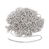 Kristall Strass Kette Aufnäher Bekleidung Nähen Zubehör Dekoration Silber