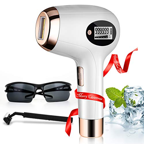IPL Laser Hair Removal for Women At-Home Permanent Painless Hair Remover Device 999,999 Flashes for Christmas Gift