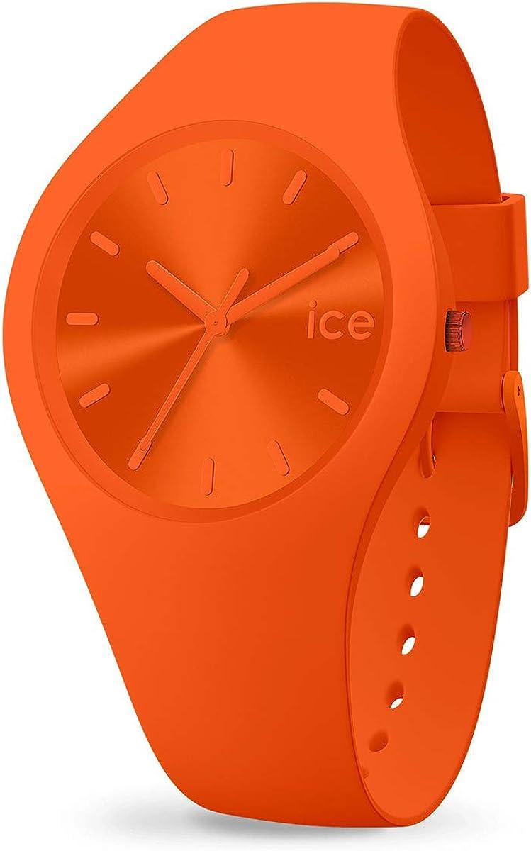 ICE-WATCH ICE Colour Tango - Reloj Naranja para Hombre con Correa de Silicona, 017911 (Medium)