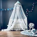 YLLN Toldo de Cama para Colgar Tiendas de campaña, mosquitera, Cortinas para decoración de habitación de niños, Cama de bebé, toldo para Cuna con decoración de Estrellas, Azul