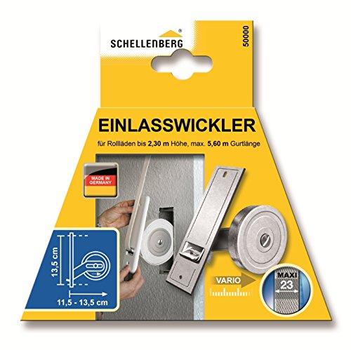 distancia entre agujeros: 13,5 cm Schellenberg 53703 Softline color blanco Tapa protectora