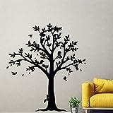 yaonuli Hermoso árbol de protección del Medio Ambiente habitación de los niños Pegatina de Vinilo decoración del hogar Etiqueta de la Pared extraíble 45X88cm