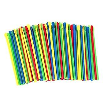 Paragon - Manufactured Fun SNO-Cone Spoon Straws Multicolor 200-Count