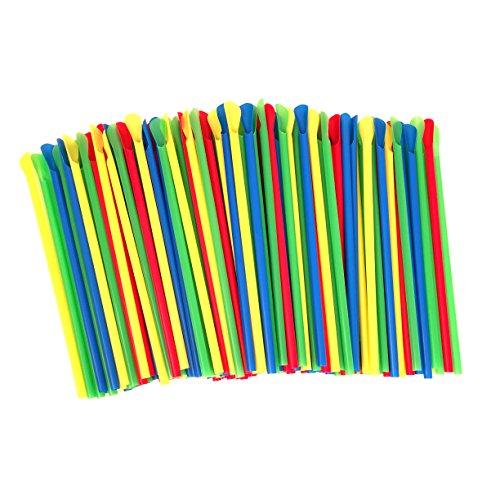 Paragon - Manufactured Fun SNO-Cone Spoon Straws, Multicolor, 200-Count