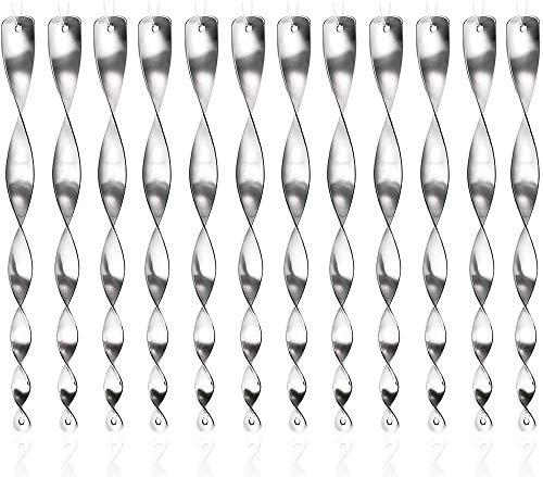 Frofine 12 Piezas 30cm Repelente de Aves Espiral Reflectante de Aves Espantapájaros Jardin Control de Aves Reflectante de Plata Repelente Pajaros Ahuyentador Palomas Anti Palomas Ahuyentar Pajaros