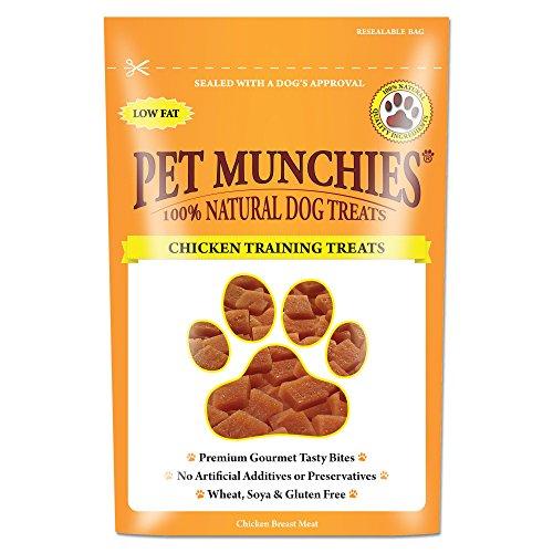 PET MUNCHIES - Paquete de 8 Bolsas de chucherías de Pato para Mascotas, recompensa para adiestramiento. ✅