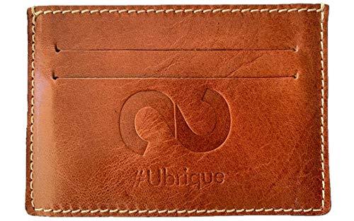 SYNERGO Tarjetero Billetera Minimalista de Hombre para Tarjetas de Credito con Bloqueo RFID Hecho a Mano en Ubrique (Cádiz - España)