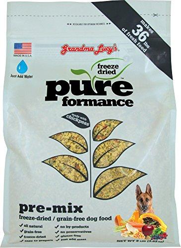 Grandma Lucy's PUREformance Pre-Mix Dog Food, Grain Free and Freeze-Dried - 8Lb Bag