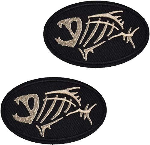 2pcs Set Tactical Fishing Velcro Patches (Fishbone)