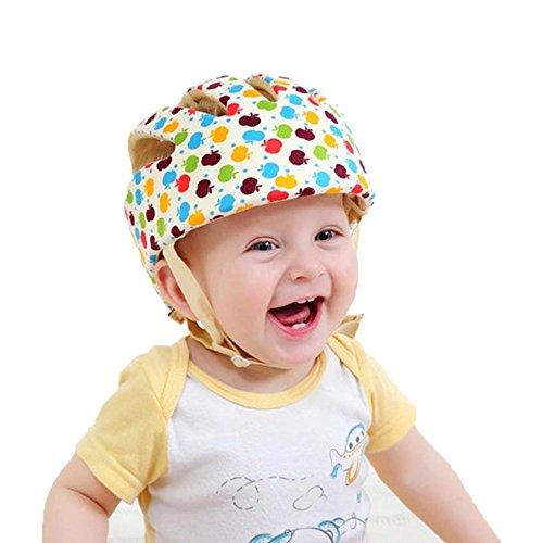 Jadebin Baby Infant Adjustable Safety Helmet Colorful Protective Head Guard Harnesses Title