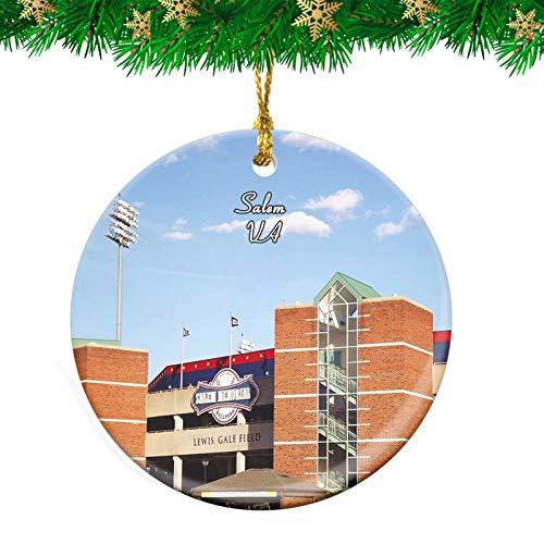 Weekino Salem Salem Red Sox Virginia USA Christmas Ornament Travel Souvenir Personalized Christmas Tree Pendant Hanging Decoration