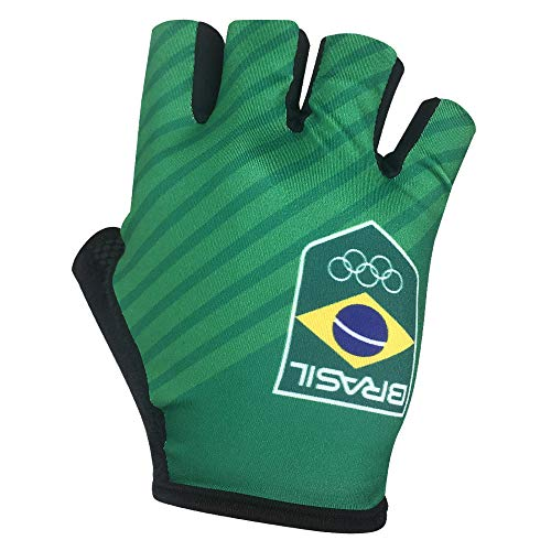 Barbedo Sports, Luva Time Brasil, Preta/ Detalhes/ Verde, Tamanho P