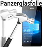 tomaxx Glas für Microsoft Lumia 950 Glas Glasfolie 9H Panzerglas Panzerglasfolie Schutzfolie
