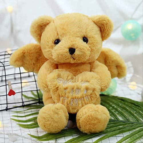 DOUFUZZ SNHPP Lindo Angel Bunny muñeca angelto Oso Plus Juguete Regalo de cumpleaños 45cm Angel Bear Wong