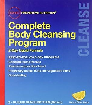 GNC Preventive Nutrition Complete Body Cleansing Program - Natural Citrus Flavor 2 16oz Bottles 2-Day Detox of Natural Fiber Blend