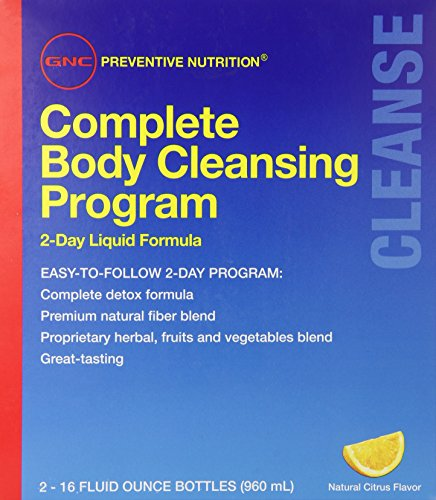 GNC Preventive Nutrition Complete Body Cleansing Program - Natural Citrus Flavor, 2 16oz Bottles, 2-Day Detox of Natural Fiber Blend