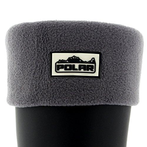 Damen Thermo-Fleece-Socken für Gummistiefel, warm, gemütlich, weich Gr. 36, grau