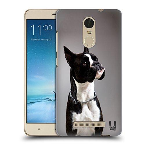 Head Case Designs Bóxer Alemán Negro Y Blanco Razas de Perros Populares Carcasa rígida Compatible con Xiaomi Redmi Note 3 / Pro