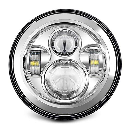 SUNPIE 7 inch LED Headlights For Harley CHROME PROJECTOR DAYMAKER HID LED LIGHT BULB for Jeep Wrangler JK LJ CJ LED Headlamp