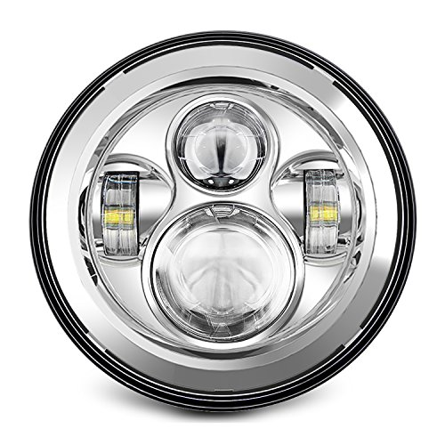 "Sunpie 7 Inch Chrome Harley LED Headlight 2x 4-1//2/"" Fog Light Passing Lamps ..."