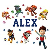 Personalized Paw Patrol Kids Name Wall Decal Life Size