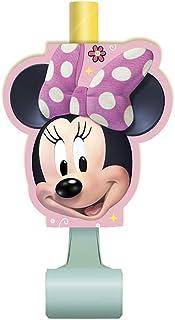 Disney Minnie Mouse Noisemaker Blowouts - 8 Pcs