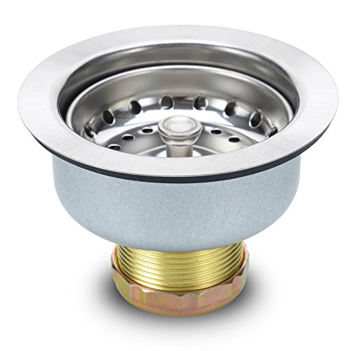 K&J Kitchen Sink Strainer Stopper - Stainless Steel Spring Clip Kitchen Sink Drain Strainer And Stopper (Sink Drain Assembly)