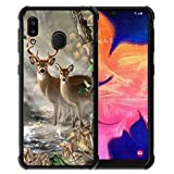 for Samsung Galaxy A30 Case,Galaxy A20 Case Vector Forest Deer Pattern, ABLOOMBOX Shock Soft Bumper Slim Rubber Pro Maxtective Case with Reinforced for Galaxy A20/ A30 Case