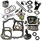 Auto Express GX160 Rebuild Kit with Piston Connecting Rod Cylinder Head Pushrods and Carburetor