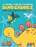 Le grand livre de Coloriage dinosaures pour les enfants dès 3 ans: Cahier de coloriage de dinosaures grands et amusants pour les enfants de 3 à 8 ans ... les filles, +48 beaux dinosaures à colorier
