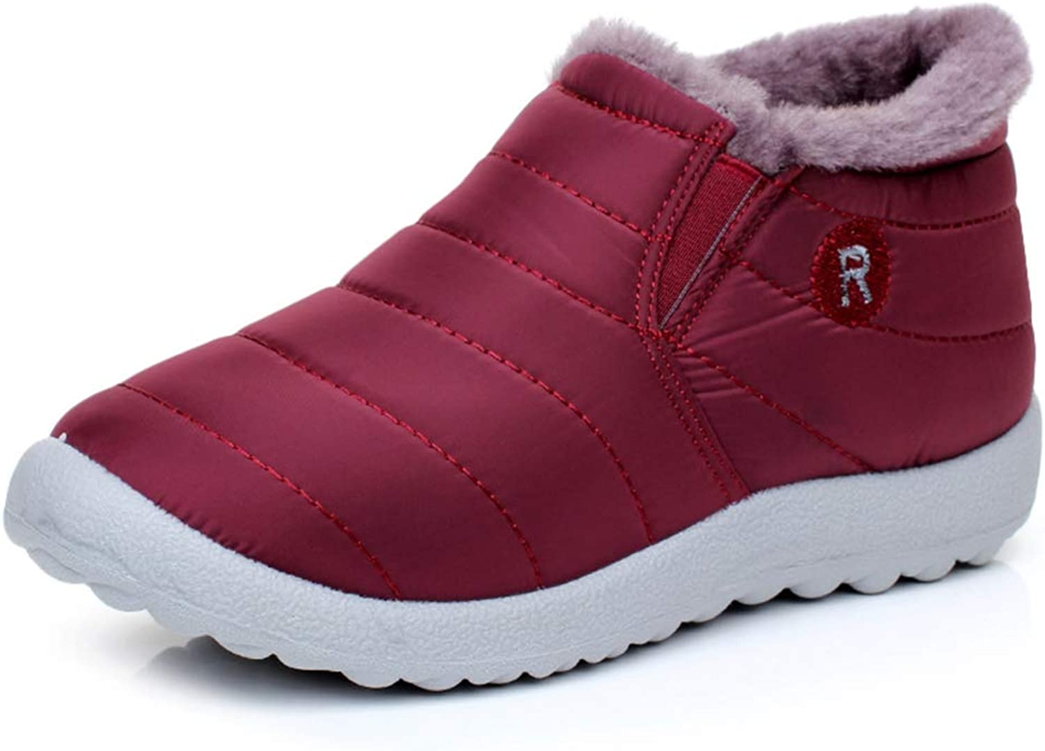 T-JULY Women Winter Warm Down Snow Boots Ankle Boots Fashion Waterproof Fur Antiskid Outdoor Flat Boots